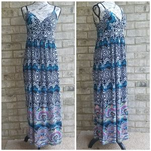 Gorgeous Dereck Heart Dress Maxi Printed Sx L